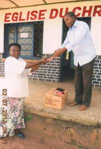 Ps. Birakara sells Tshiluba Bible