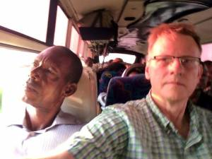 Mputu and Charles along with 75+ passengers