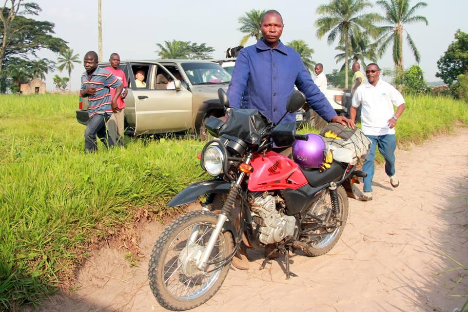 Albert Mulamba ready to ride